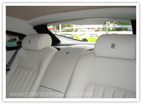 White Phantom Back Seats